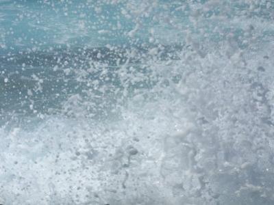Close-Up of Refreshing Water Splashing and Foaming