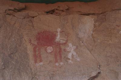 Close-Up of Rock Paintings, Akakus Massive, Libya, Depicting a Camel--Giclee Print