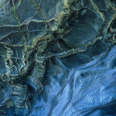 Close-Up of Rock Patterns in the Cliffs at Torcross, Devon, UK-Ed Pavelin-Photographic Print