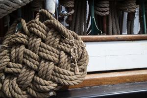 Close-Up of Rope on the Ship, Dana Point Harbor, Dana Point, Orange County, California, USA