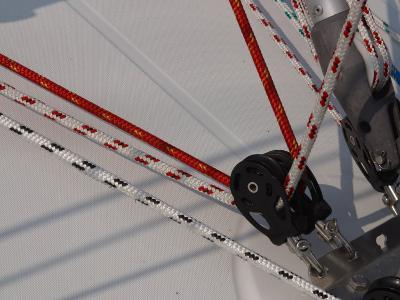 Close-Up of Ropes and Pulley Used for Sailboat Rigging--Photographic Print