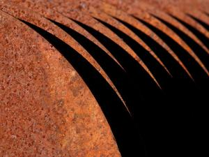 Close-up of Rust Corrosion on Metal Blades
