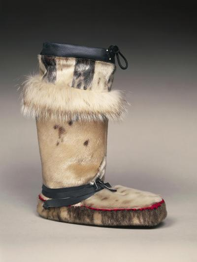 Close Up of Sealskin Eskimo Boot--Giclee Print