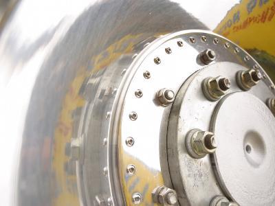 Close-Up of Shiny Chrome Wheel--Photographic Print