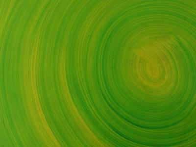 Close-up of Smooth Painted Green Swirls--Photographic Print