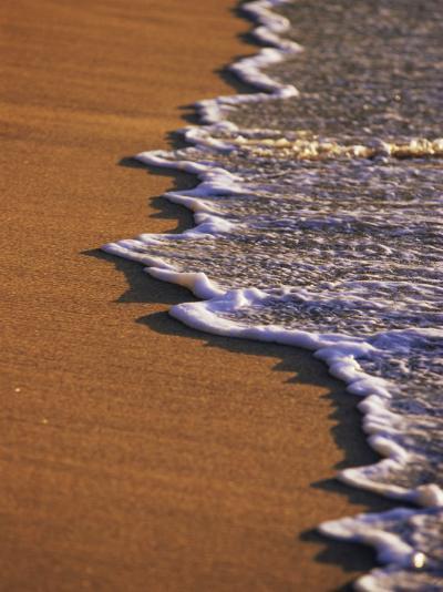 Close-up of Surf on a Sandy Beach-John Miller-Photographic Print