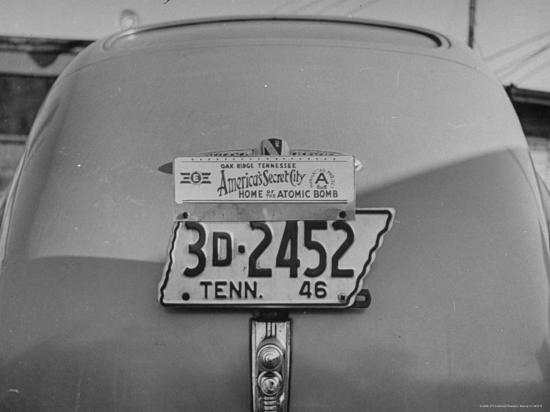Close Up of Tennessee License Plate with Special Civic Booster Attached  Photographic Print by Thomas D  Mcavoy | Art com