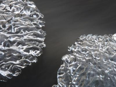 Close-Up of Texture from Frozen Surface of Ice--Photographic Print
