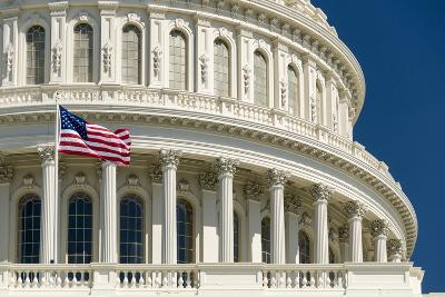 Close Up of the Capitol Building-John Woodworth-Photographic Print