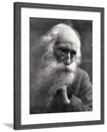 Close-Up of the Famous Sculptor Vincenzo Gemito--Framed Photographic Print