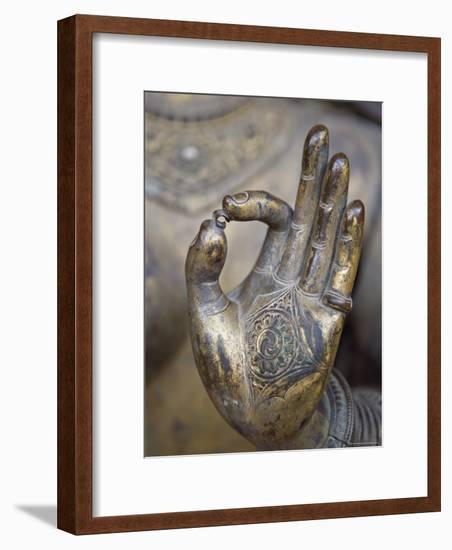 Close-Up of the Hand of Ganga, Kathmandu Valley, Nepal-Don Smith-Framed Photographic Print