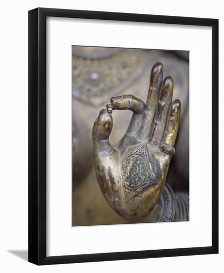 Close-Up of the Hand of Ganga, Kathmandu Valley, Nepal-Don Smith-Framed Photographic Print