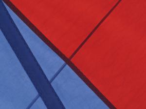Close-Up of the Seams on a Spinnaker Sail of a Sailing Ship
