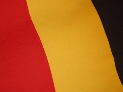 Close-Up of the Stripes on a German Flag--Photographic Print