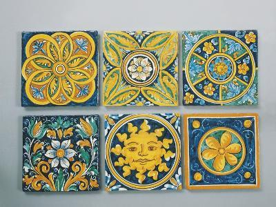 Close-Up of Tiles, Caltagirone, Italy--Giclee Print