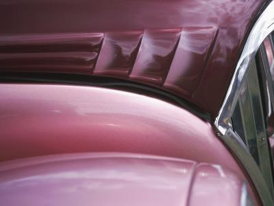 Close-up of Vent on Pink Classic Car--Photographic Print