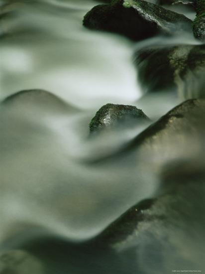 Close-Up of Water Over Rocks, Tennessee, USA-James Hager-Photographic Print