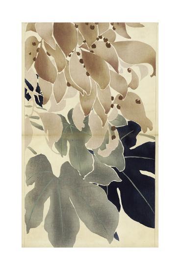 Close-Up of Watercolor Leaves--Art Print