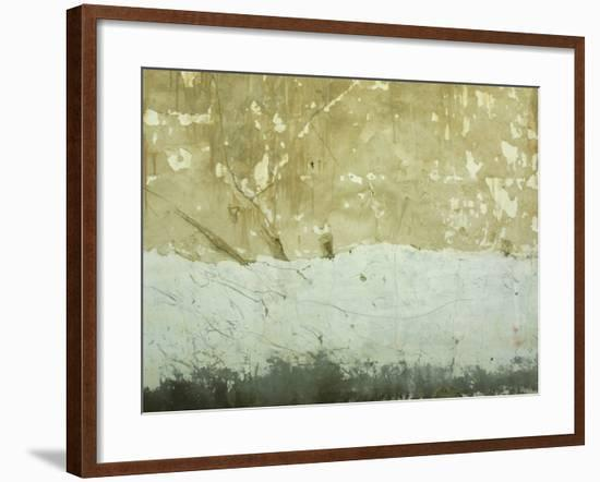 Close-Up of Weathered and Rundown Cement Wall--Framed Photographic Print