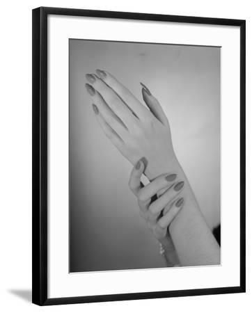 Close-Up of Woman's Hands-George Marks-Framed Photographic Print