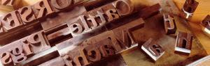Close-up of Wooden Printing Blocks