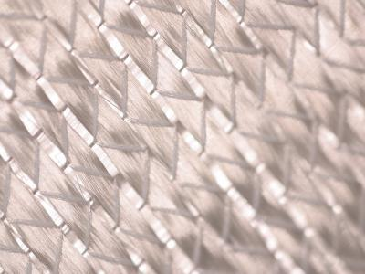 Close-Up of Woven Glass Fibers with a Silvery Metallic Sheen--Photographic Print