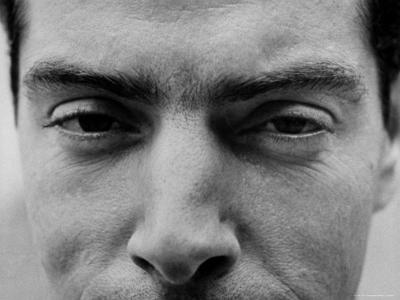 """Close Up of """"Yankee Clipper"""" Joe DiMaggio's Eyes and Nose-Ralph Morse-Premium Photographic Print"""