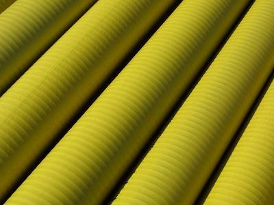 Close-up of Yellow Tubing--Photographic Print