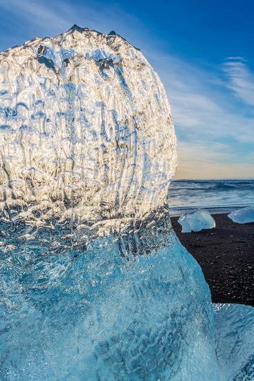 Close Up on Ice. Ice Formations Come from the Jokulsarlon Glacial Lagoon--Photographic Print