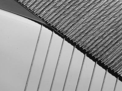 Close-Up on Industrial Steel Surface--Photographic Print