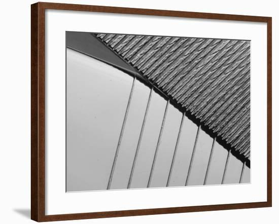 Close-Up on Industrial Steel Surface--Framed Photographic Print