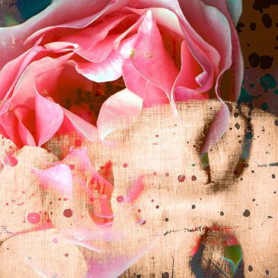 Close-Up Portrait of a Womans Face with Floral Layers-Alaya Gadeh-Photographic Print