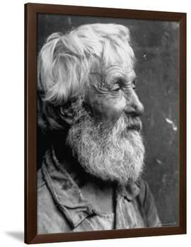 Close Up Portrait of Old Russian Peasant-Margaret Bourke-White-Framed Premium Photographic Print