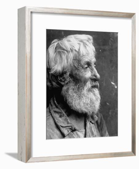 Close Up Portrait of Old Russian Peasant-Margaret Bourke-White-Framed Photographic Print