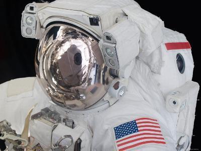 Close-Up View of an Astronaut's Helmet Visor-Stocktrek Images-Photographic Print