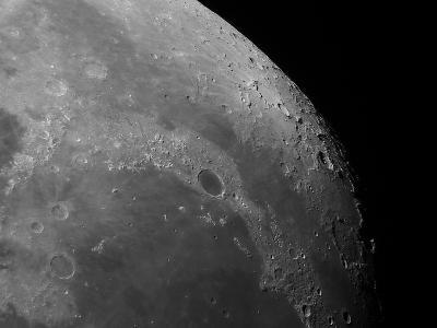 Close-Up View of the Moon Showing Impact Crater Plato-Stocktrek Images-Photographic Print