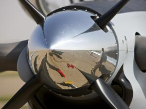 Close-Up View of the Propeller of an Iraqi Air Force T-6 Texan Trainer Aircraft