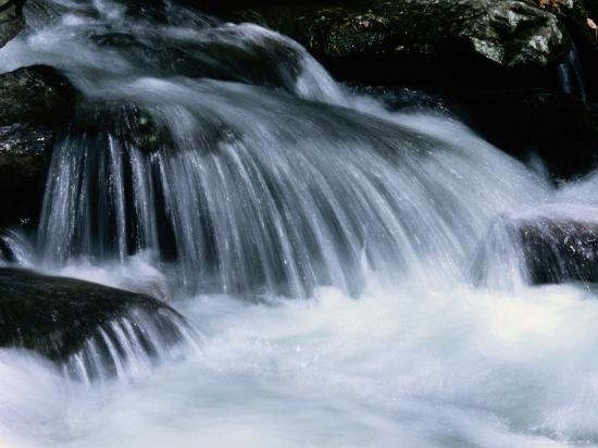 Close View of a Small Waterfall-Bates Littlehales-Photographic Print