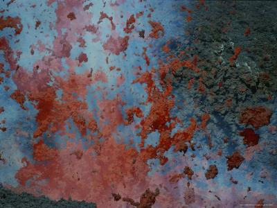 Close View of Lava Exploding From a New Cone on Mount Etna-Peter Carsten-Photographic Print