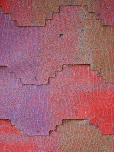Close View of Shingles on a Wall-David Edwards-Photographic Print