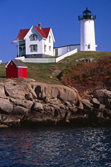 Close View of the Cape Neddick Lighthouse-George Oze-Photographic Print