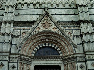 Close View of Top of One of the Portals to the Duomo di Siena, Tuscany, Italy-Todd Gipstein-Photographic Print