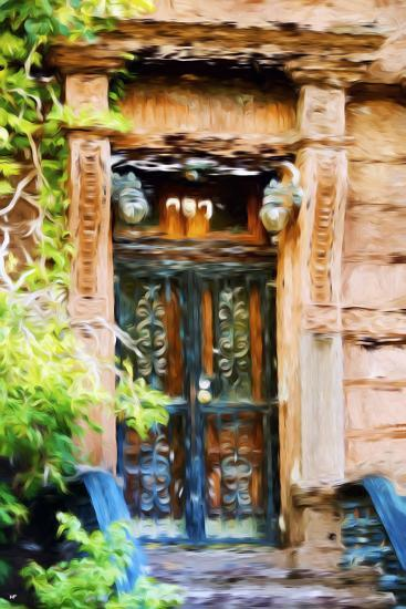 Closed Door - In the Style of Oil Painting-Philippe Hugonnard-Giclee Print