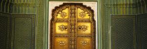 Closed Door of a Palace, Jaipur City Palace, Jaipur, Rajasthan, India