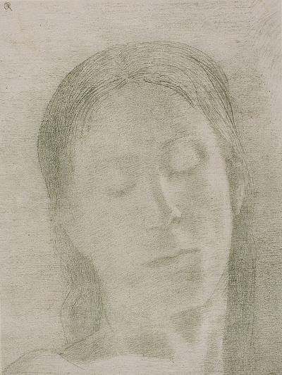Closed Eyes, 1890-Odilon Redon-Giclee Print