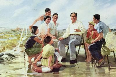 Closely Following Chairman Mao--Giclee Print