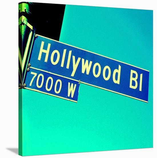 Closeup Hollywood Boulevard CA--Stretched Canvas Print
