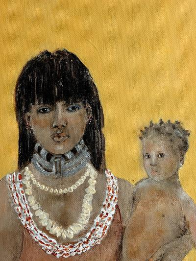 Closeup of Hamer Woman and Baby-Susan Adams-Giclee Print