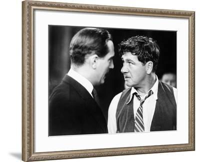 Closeup of Men Having Confrontation--Framed Photo