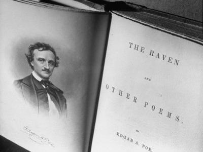 Closeups of Very Old Book by Edgar A. Poe